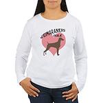 Weims Rule Pink Heart Women's Long Sleeve T-Shirt
