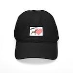 Weims Rule Pink Heart Black Cap