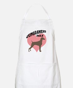 Weims Rule Pink Heart BBQ Apron