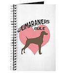 Weims Rule Pink Heart Journal