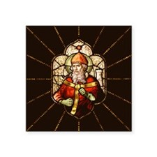 "Stained Patrick II Square Sticker 3"" x 3"""