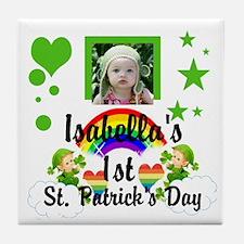 Baby Photo St. Patricks Day Tile Coaster