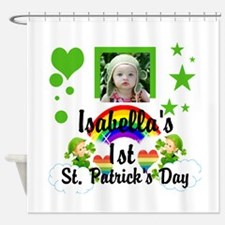 Baby photo St. Patricks Day Shower Curtain