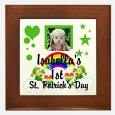 Baby Photo St. Patricks Day Framed Tile