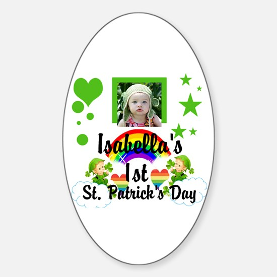 Baby Photo St. Patricks Day Sticker (Oval)
