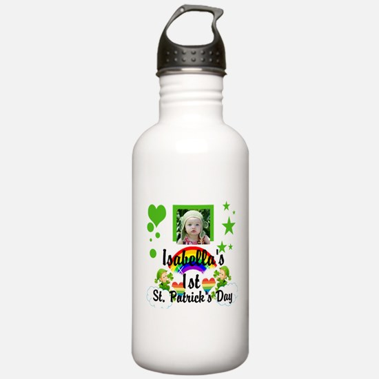 Baby photo St. Patricks Day Water Bottle