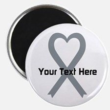 "Personalized Gray Ribbon He 2.25"" Magnet (10 pack)"