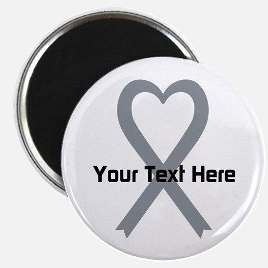 """Personalized Gray Ribbon He 2.25"""" Magnet (10 pack)"""