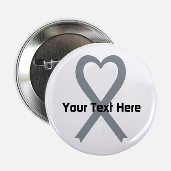 """Personalized Gray Ribbon He 2.25"""" Button (10 pack)"""
