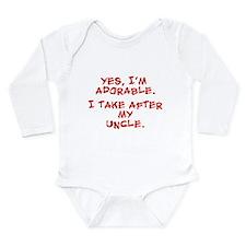 Adorable like my uncle Long Sleeve Infant Bodysuit