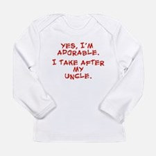 Adorable like my uncle Long Sleeve Infant T-Shirt