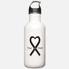 Personalized Black Rib Water Bottle
