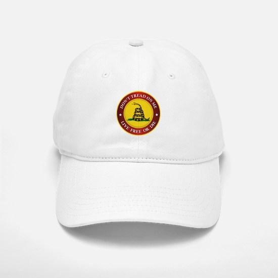 DTOM Gadsden Flag (logo) Baseball Baseball Baseball Cap