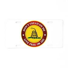 DTOM Gadsden Flag (logo) Aluminum License Plate