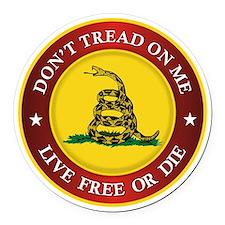 DTOM Gadsden Flag (logo) Round Car Magnet