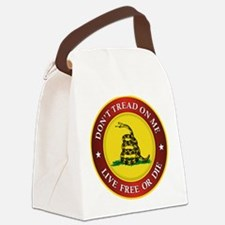 DTOM Gadsden Flag (logo) Canvas Lunch Bag
