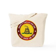 DTOM Gadsden Flag (logo) Tote Bag