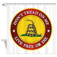 DTOM Gadsden Flag (logo) Shower Curtain