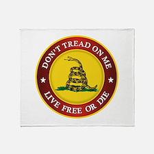 DTOM Gadsden Flag (logo) Throw Blanket