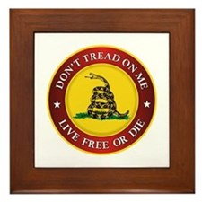 DTOM Gadsden Flag (logo) Framed Tile