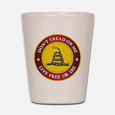 DTOM Gadsden Flag (logo) Shot Glass