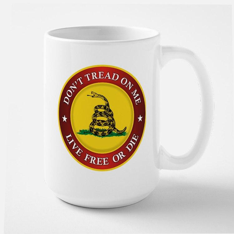 DTOM Gadsden Flag (logo) Mugs