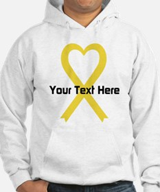 Personalized Yellow Ribbon Heart Hoodie