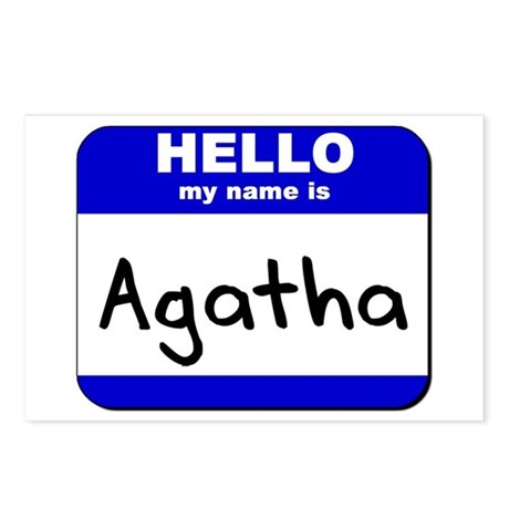 hello my name is agatha Postcards (Package of 8)