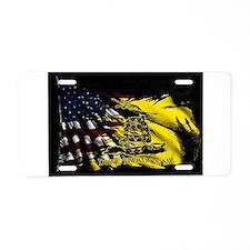 gadsden_kitchen towel Aluminum License Plate