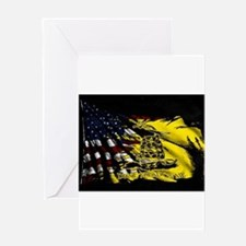 gadsden_kitchen towel Greeting Cards