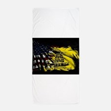 gadsden_kitchen towel Beach Towel