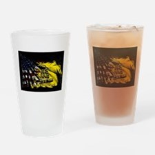 gadsden_kitchen towel Drinking Glass