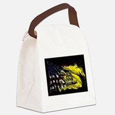 gadsden_kitchen towel Canvas Lunch Bag