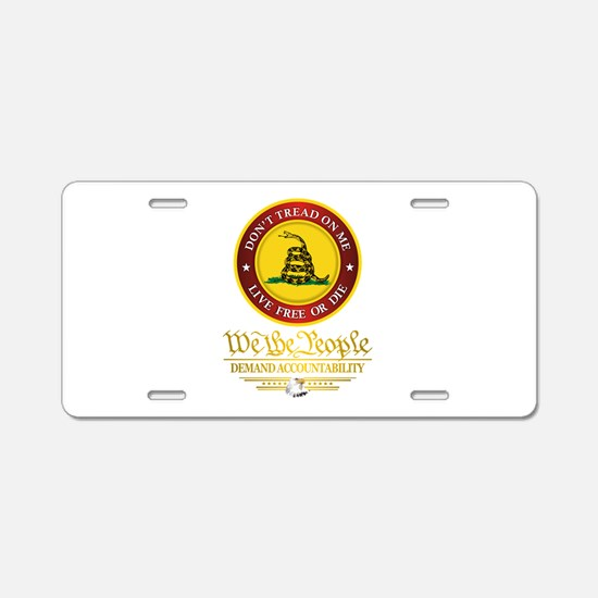 DTOM We The People Aluminum License Plate