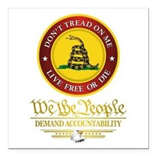 """DTOM We The People Square Car Magnet 3"""" x 3"""""""
