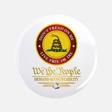 """DTOM We The People 3.5"""" Button"""