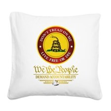 DTOM We The People Square Canvas Pillow