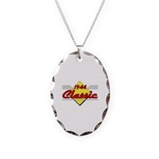 1944 Classic Birthday Necklace Oval Charm