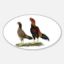 Aseel Wheaten Chickens Decal