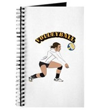 Volleyball with Text Journal
