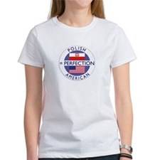polish american flag round T-Shirt