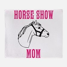 Horse Show Mom Throw Blanket