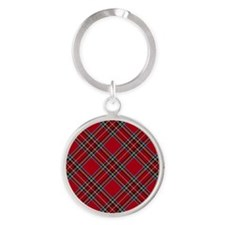 Red Plaid Pattern Keychains