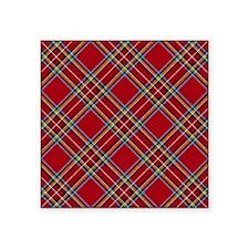 Red Plaid Pattern Sticker