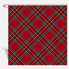 Red Plaid Pattern Shower Curtain
