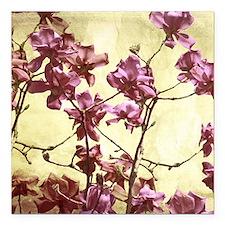 """Beautiful magnolia art Square Car Magnet 3"""" x 3"""""""