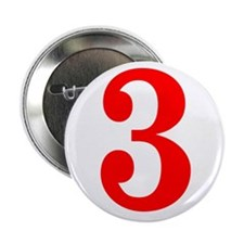 """RED #3 2.25"""" Button"""