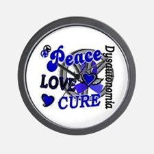 Peace Love Cure 2 Dysautonomia Wall Clock