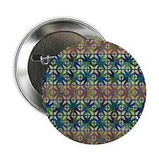 """Brown, Blue Geometr 2.25"""" Button"""