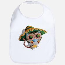 Mexican Cat in Sombrero Bib